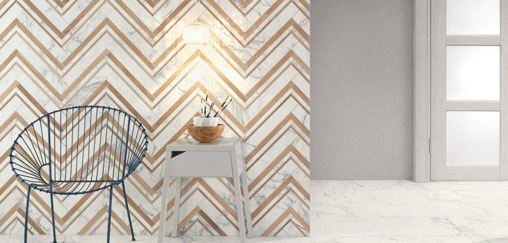 Pavimento-effetto-marmo_Rivestimenti-mosaico_Ceramiche-Coem_Marmi-Bianchi_Calacatta-75x75_Mosaico-Spiga2