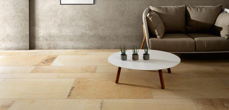 Pavimento-effetto-pietra_Ceramiche-Coem_Fossilia_Dorato_Modulo
