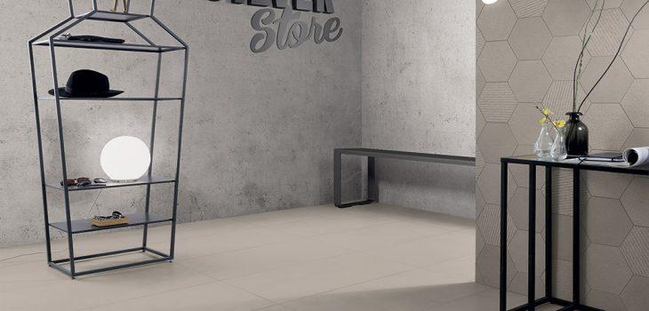 Pavimento-effetto-pietra_Rivestimenti-interni_Ceramiche-Coem_Silver-Stone_Greige-45x90_Esagona-Mix1