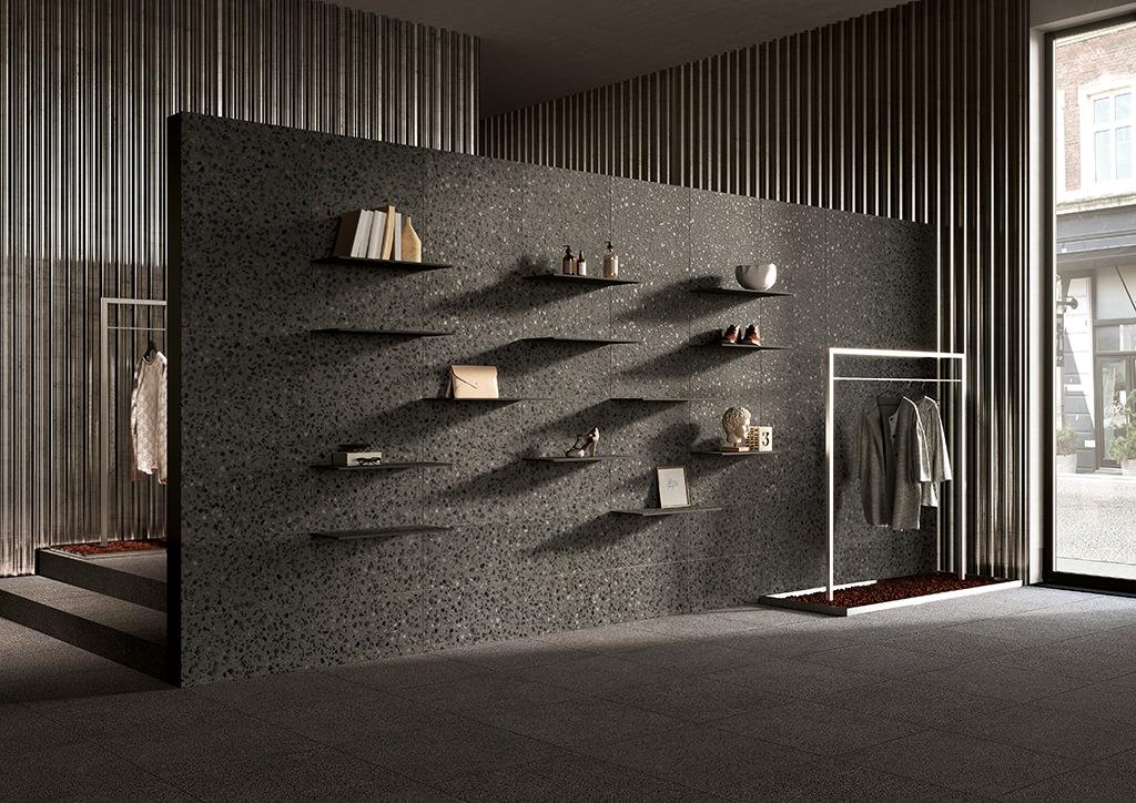Rivestimenti-per-interni_Ceramiche-Coem_Terrazzo_Bucchero-Maxi-60x60-30x60-Shelf