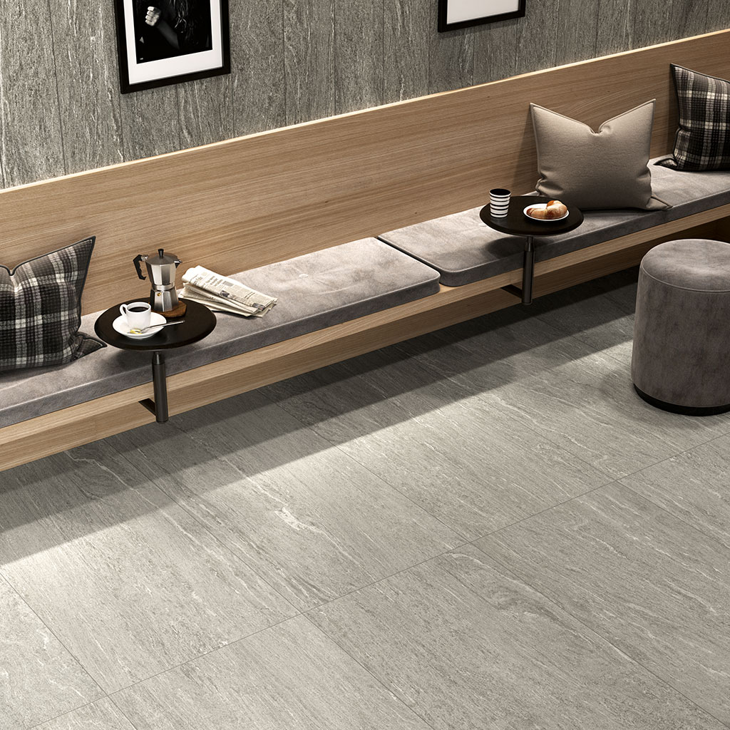 Ceramiche-Coem_Dualmood-Stone_Light-Grey-60x120_Dark-Grey-20x120_pavimenti-interni