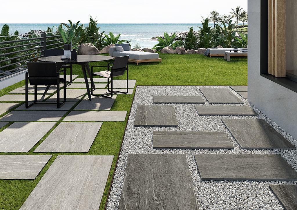 pavimenti_per-esterni_Ceramiche-Coem_Dualmood_Dark-Grey-Stone_Light-Grey-Stone