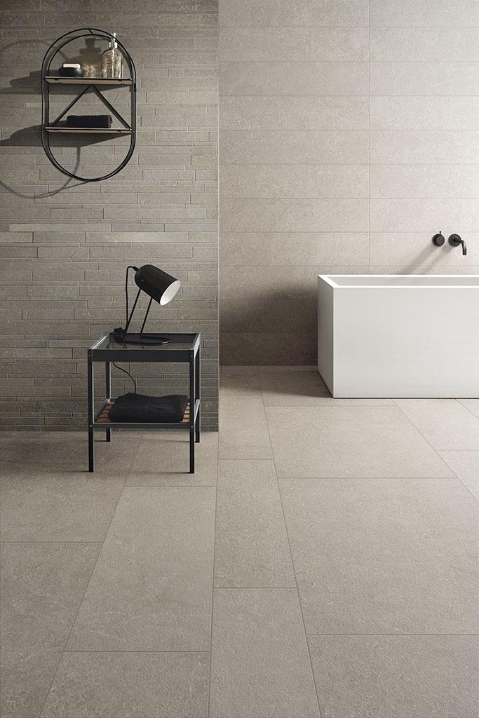piastrelle-bagno_Ceramiche-Coem_Modica_Stone_Grigio-Chiaro-60x90-30x90-20x90_Mosaico-Wall-Mix-Grigio-Scuro