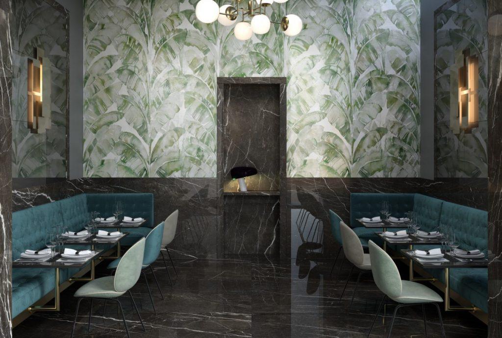 CDE-wonderwall-jungle-3,5mm-vanity-darkbrown-glossy-6,5mm-restaurant-001