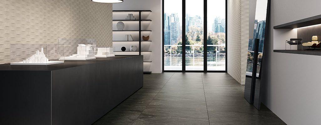 Ceramiche-Coem_Soap-Stone_Black-45x90_White-Waves-30x60_piastrelle-effetto-pietra