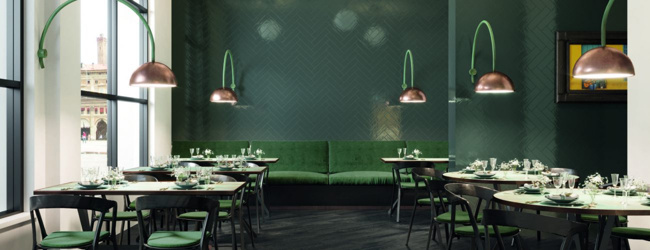 Evood Lack Tone Teal restaurant
